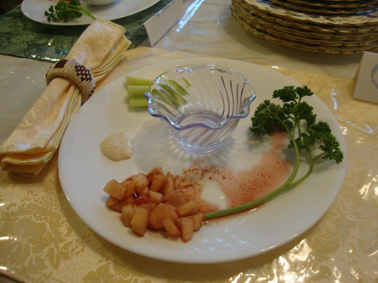 A guest's Seder plate