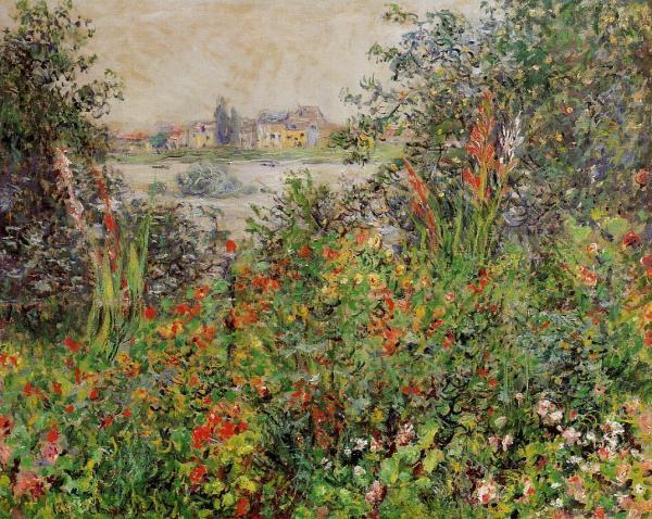 Flowers at Vetheuil Claude Monet