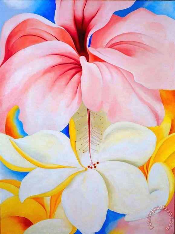 hibiscus_with_plumeria_oKeefe