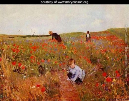 Poppies-in-a-Field-1874-1880_Mary Cassatt