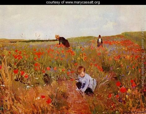 Poppies-in-a-Field-1874-1880_Mary Cassatt