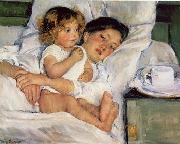 Breakfast-in-Bed-Mary Cassatt