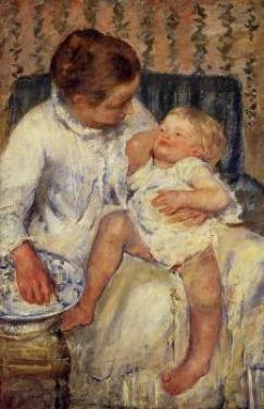 the childs bath - mary cassatt