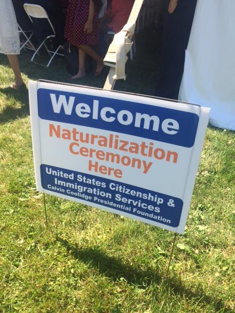 naturalization ceremony sign