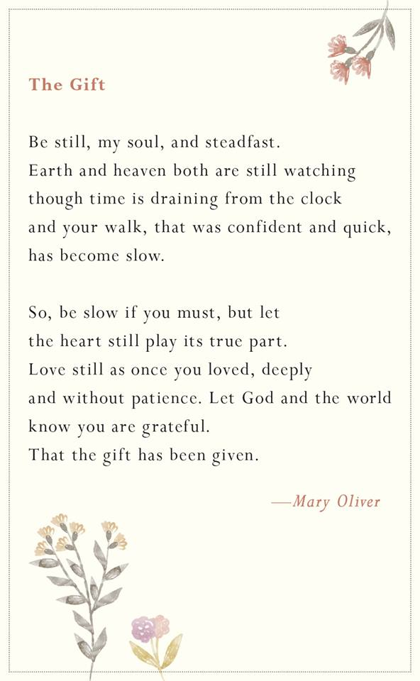 mary oliver-the gift-poem